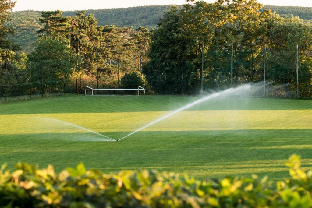 Fotografie fotbalového hřiště v Kobeřicích u Brna