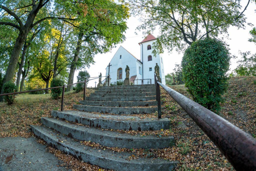 Fotografie kostela v Kobeřicích u Brna