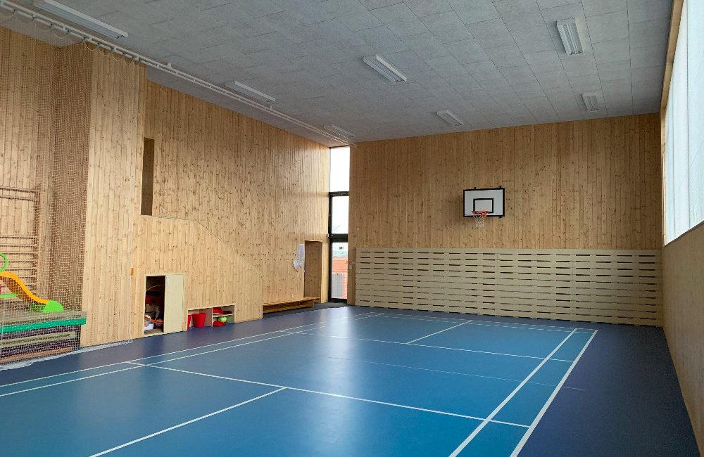 Fotografie interiéru tělocvičny Kobeřice u Brna